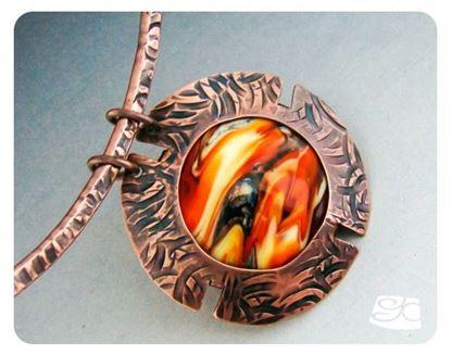 Picture of Lentil bead frame pendant DIY  PDF Tutorial