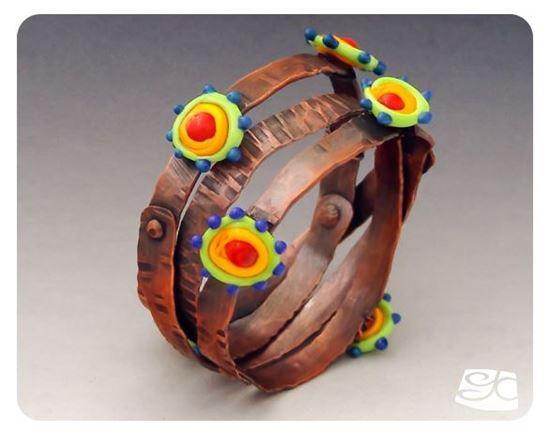 Picture of Large gauge spiral bangle DIY PDF Tutorial