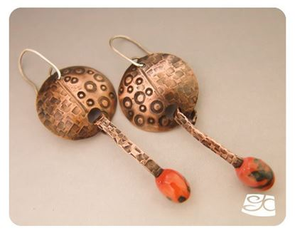 Picture of Large Forged Head Pin and Domed Earrings DIY Tutorial