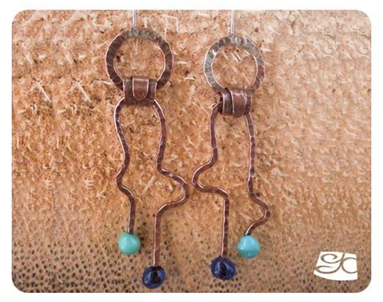 Picture of Shaped and Forged Double Head Pin Earrings DIY Tutorial