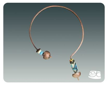 Picture of Simple Forged Neck Wire for Large Focal Bead  DIY Tutorial