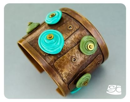 Picture of Riveted Copper Cuff with Glass Disks DIY Tutorial