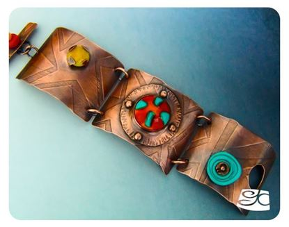 Picture of Three link riveted cabochon bracelet DIY Tutorial