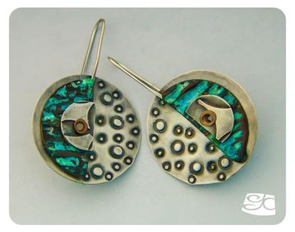 Picture of Silver And Corrugated Copper Earrings DIY Tutorial