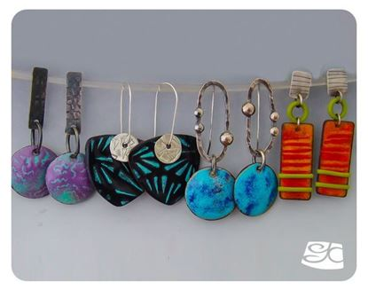 Picture of Torch Fired Earrings I, II, III, IV  DIY Tutorial