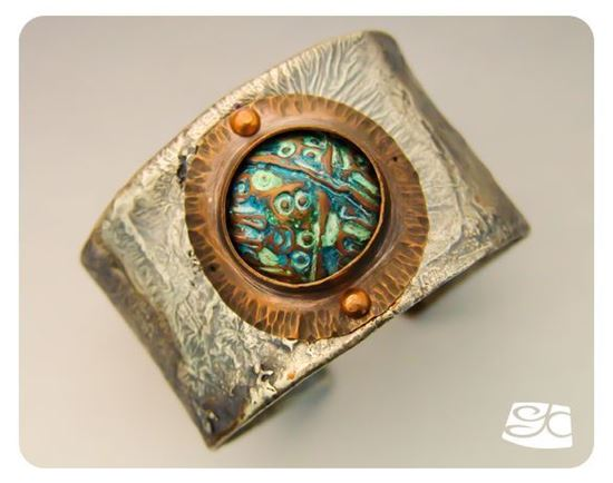 Picture of Reticulated Silver Over Copper Cuff  DIY Tutorial