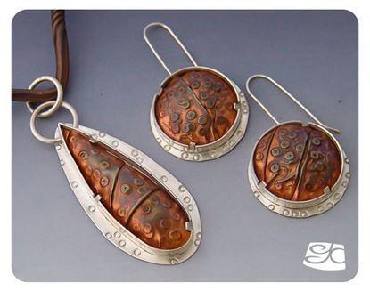Picture of Shaped Silver Pendant And Earrings DIY Tutorial