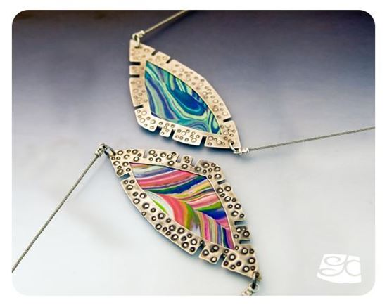 Picture of Sterling Silver And Polymer Clay Pendant DIY Tutorial