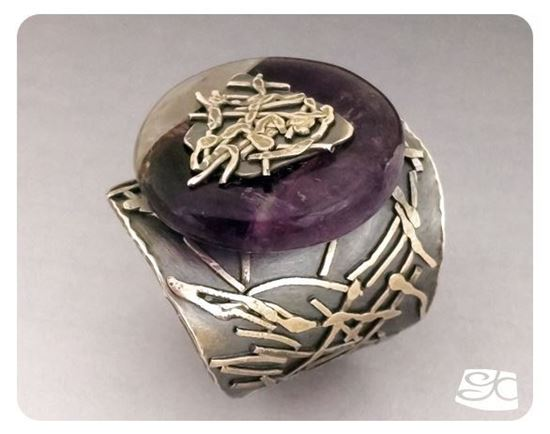 Picture of Amethyst Donut Fused Sterling Silver Ring DIY PDF Tutorial