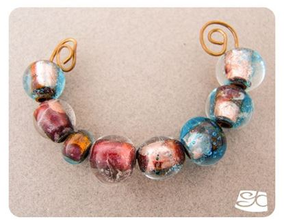 Picture of Making a bright copper cored Lampwork glass beads for jewelry - DIY FREE Mini Tutorial
