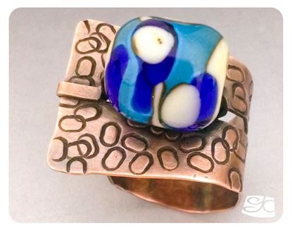 Picture of Wrap around tab tile ring DIY PDF Tutorial