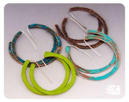 Picture of No Solder Large Hoop Earrings DIY  FREE PDF Tutorial