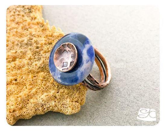 Picture of Adjustable Gemstone Donut Ring DIY PDF Digital Tutorial