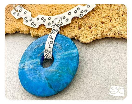 Picture of No-solder Riveted Bail Gemstone Donut Necklace DIY PDF Digital Tutorial